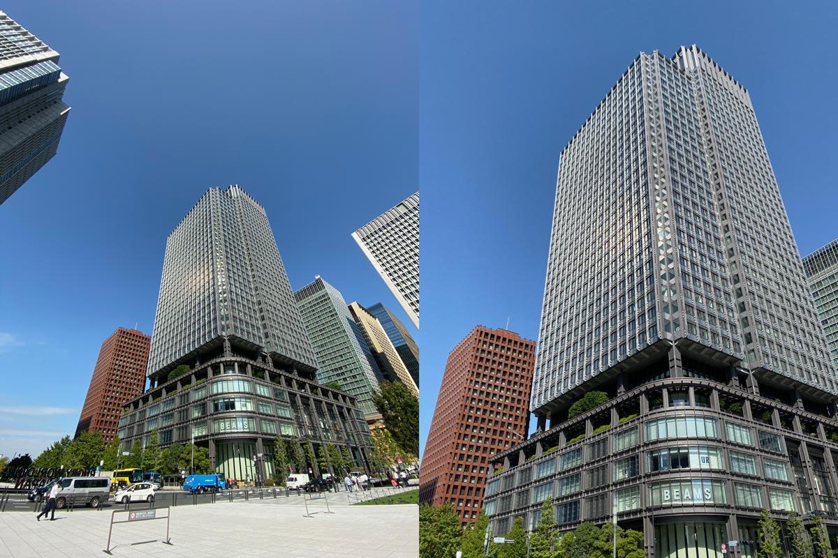 超広角と広角の視野の違いを比較