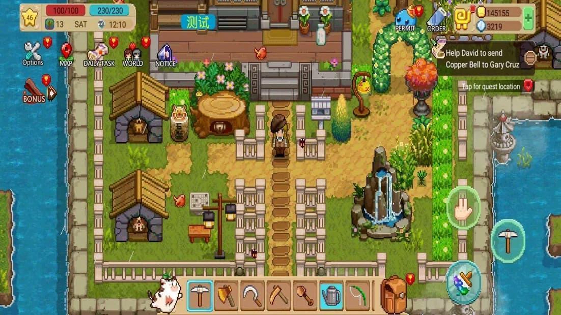 Harvest Town プレイ中の写真