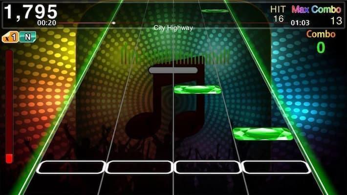 チューンズホリック ゲームプレイ画面