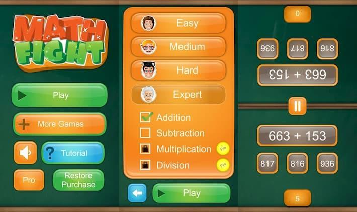 2人用数学学習ゲーム アプリ紹介画像