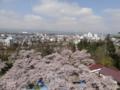 鶴ヶ城天守閣からの景色(会津若松市)