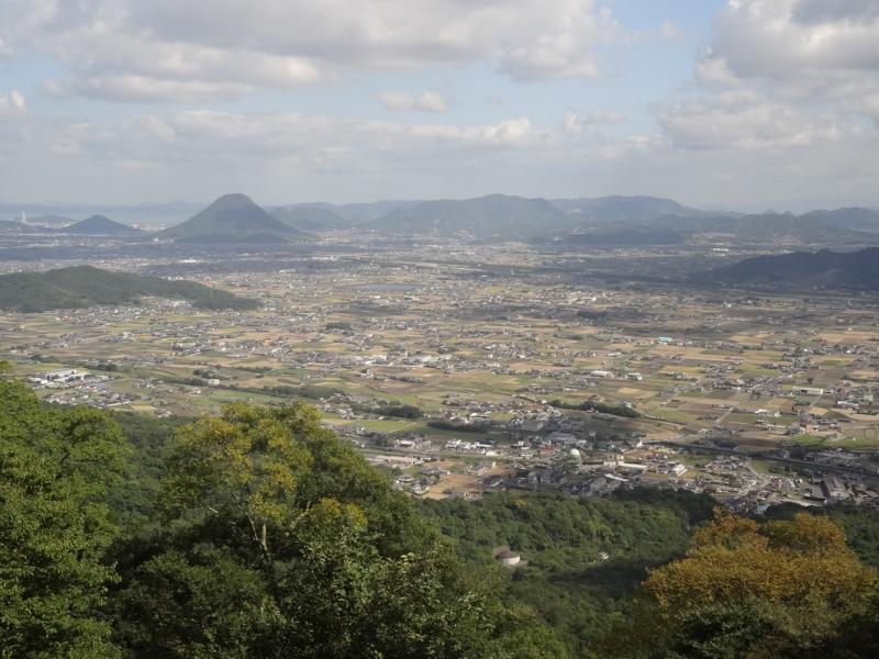 厳魂神社からの景色(琴平町)