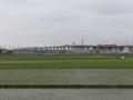 田圃と仙台北部道路と東北新幹線と…(利府町)