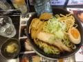 拉麺二段 男煮干し油そば(長井市)