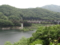 野岩鉄道と五十里湖(日光市)