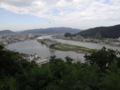 日和山公園から見た中瀬(石巻市)