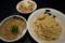 麺屋ろっきん つけ麺(味玉入)+肉飯(小)(柴田町)
