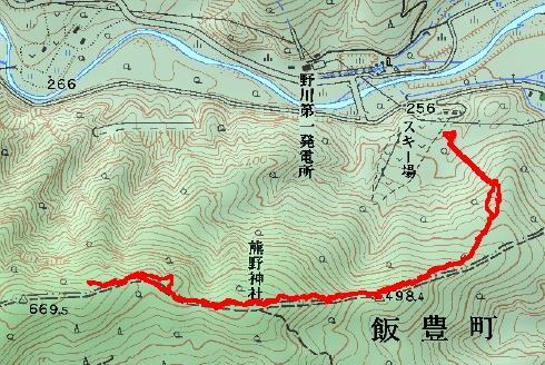 熊野山 登山経路