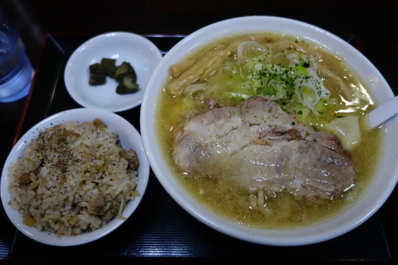二代目高橋商店 みそラーメン+味めし(東根市)