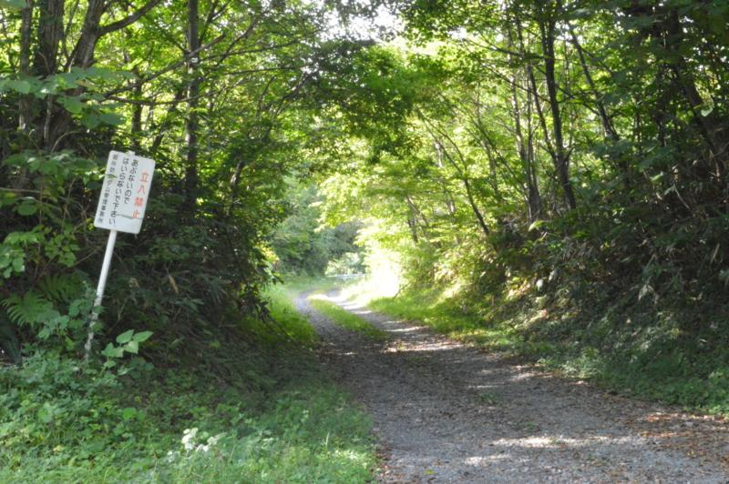 レン滝ダムへの道(雫石町)