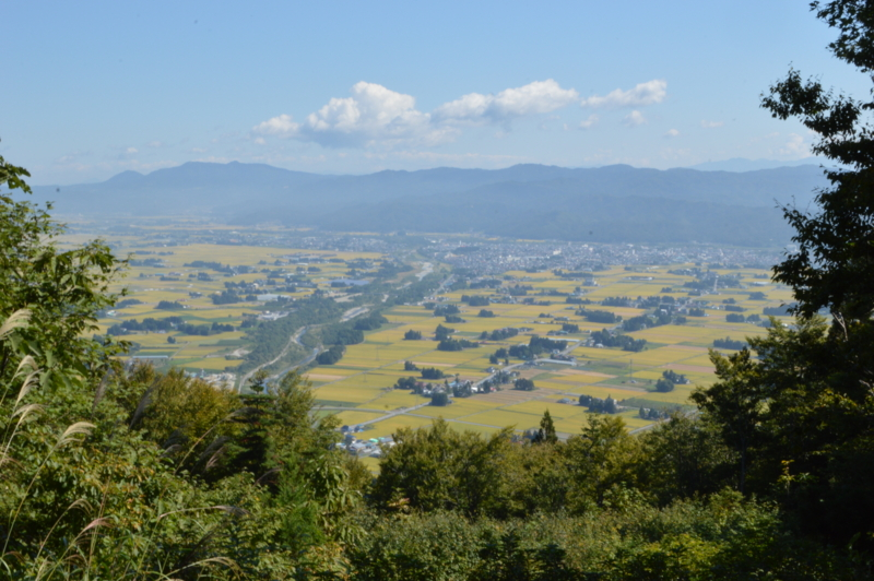 熊野神社 奥宮からの景色(長井市)