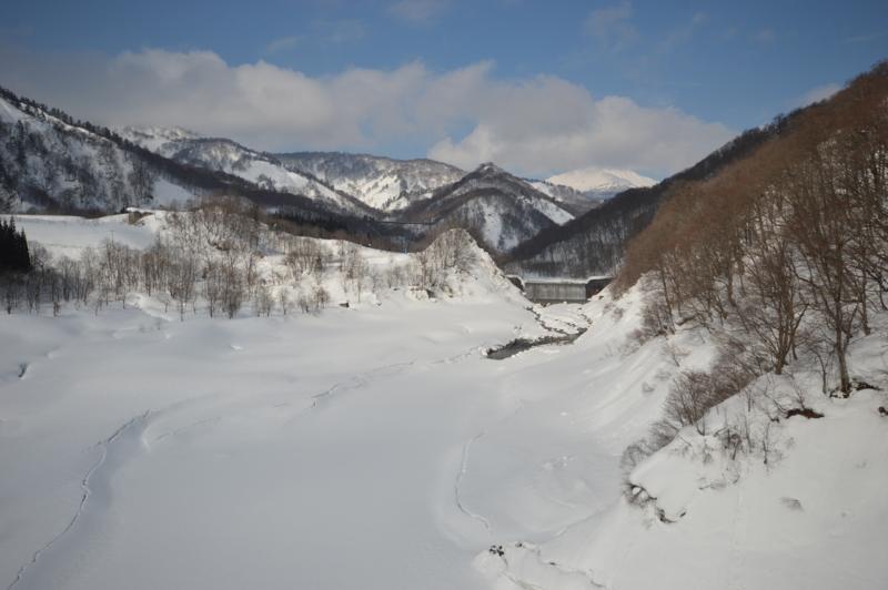 大越川第二砂防ダム(西川町)
