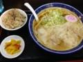 二代目高橋商店 ワンタン麺+味めし(東根市)