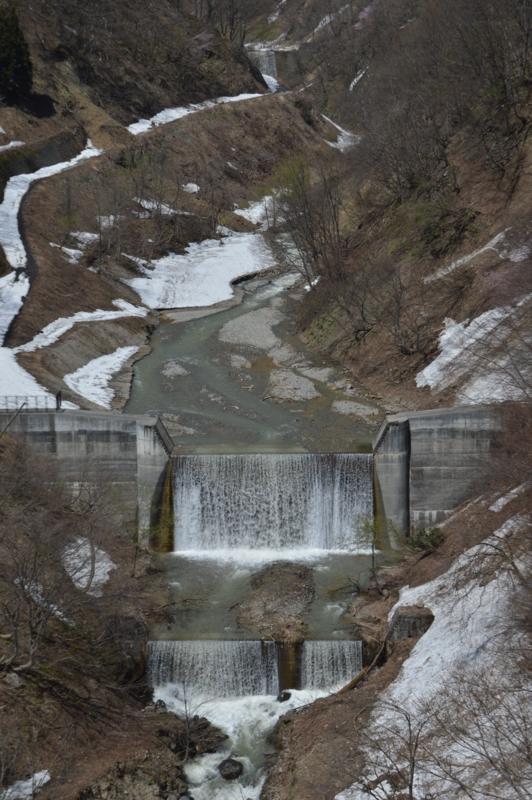 風吹沢砂防ダム(西川町)