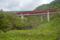 月山ダム直下から見た国道112号と山形自動車道(鶴岡市)