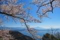 奥びわ湖 つづら尾崎からの眺め(伊吹山)