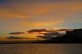 長浜港の夕焼け