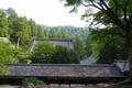 永平寺 仏殿から山門を眺める