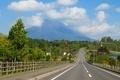 国道5号線と羊蹄山