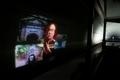 琵琶湖疎水船 トンネルの壁に映像も映されました
