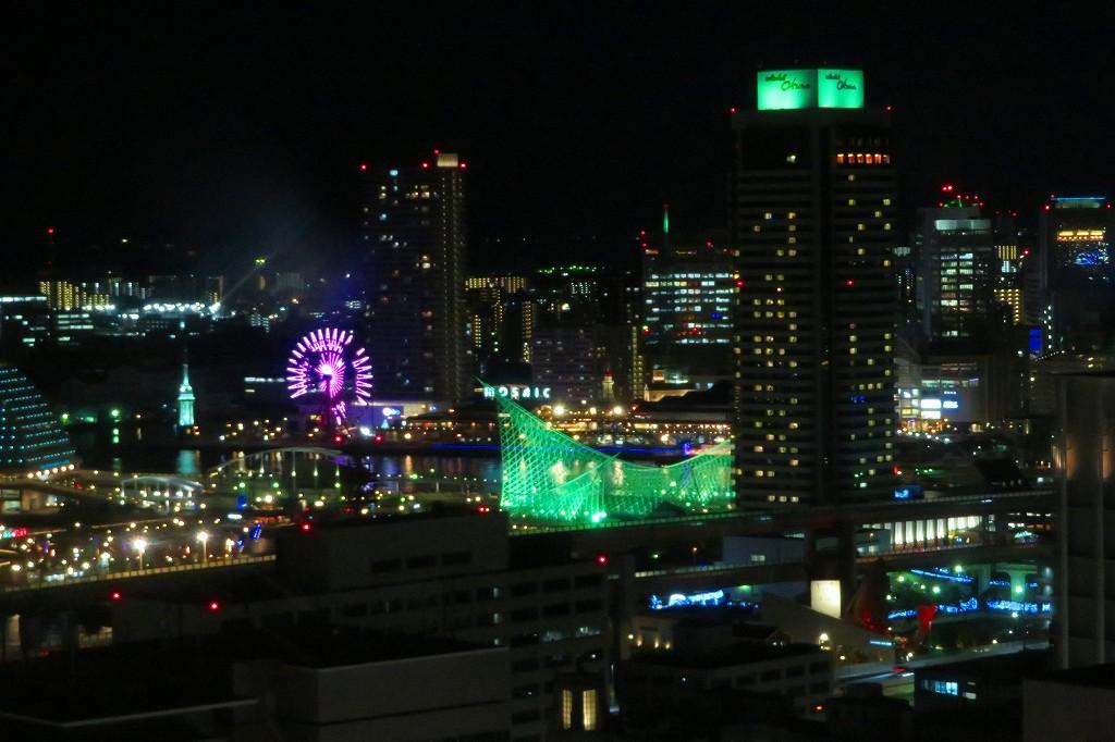 神戸ルミナリエ 市役所展望フロアから