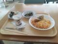 一橋大学生協で昼御飯。値段の割にちょっとなあ、という感じだ。