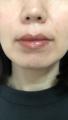 ミネラルリキッドルージュを塗った唇がこちら