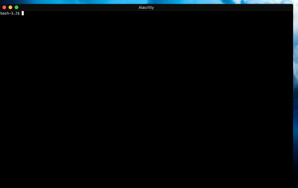 高速な端末エミュレータ Alacritty - macでインフォマティクス