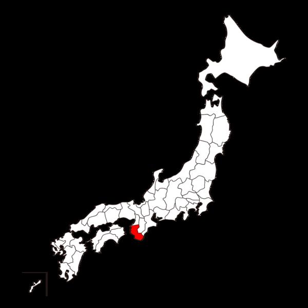 日本地図 和歌山の位置