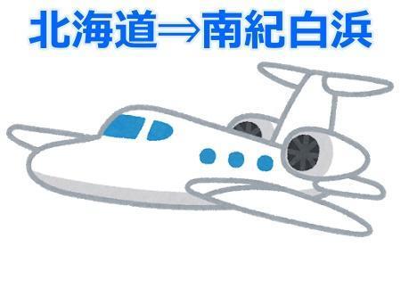 北海道から南紀白浜 飛行機画像