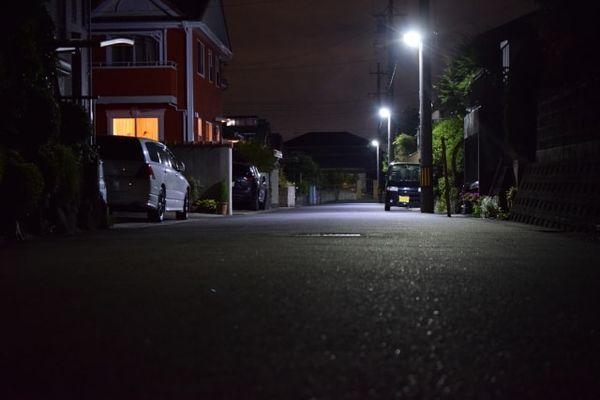 夜道の画像