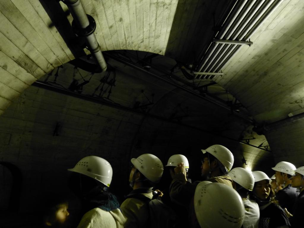 横坑より望む北神トンネル本坑取付。