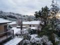 自宅ベランダよりの雪景色