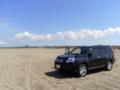 X-TRAILと内灘海水浴場
