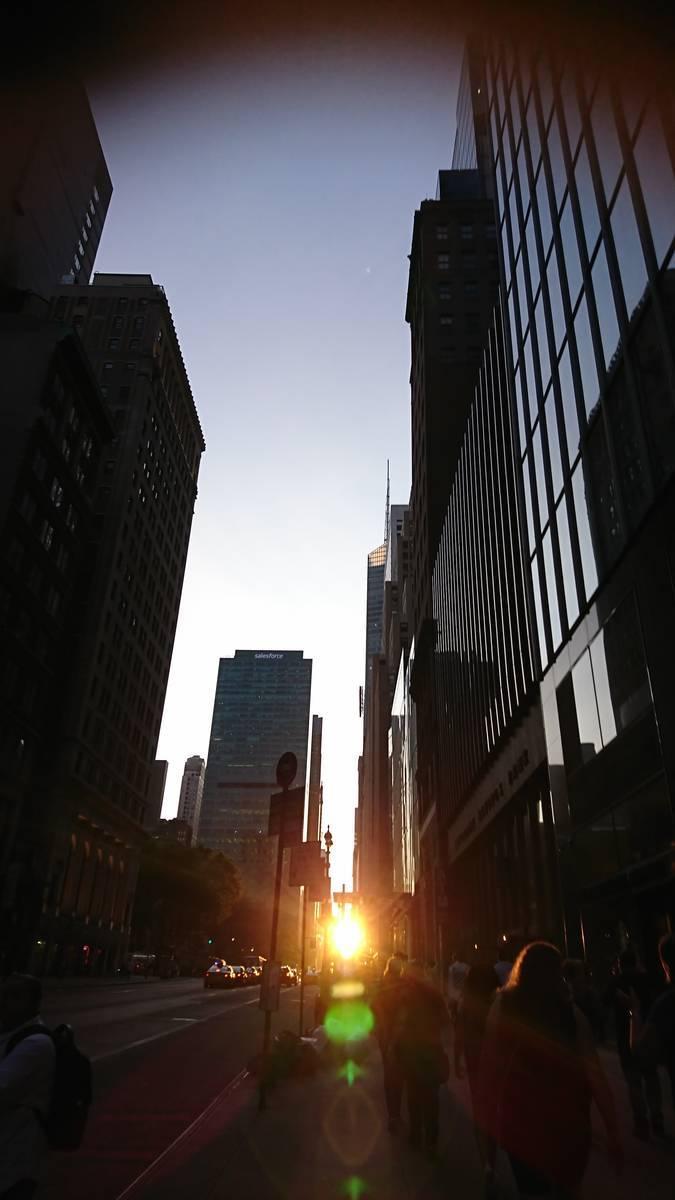 マンハッタン夕日