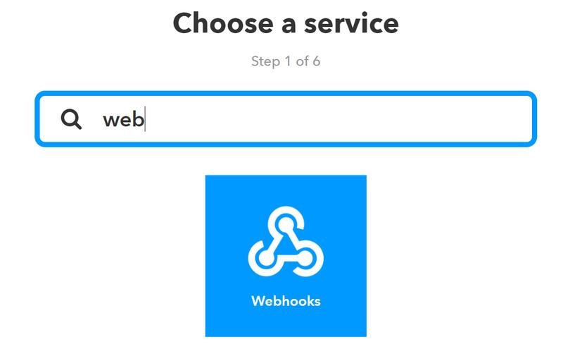 IFTTT Webhooks