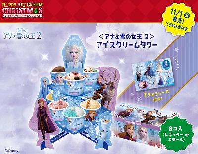 アナと雪の女王2アイスクリームタワー