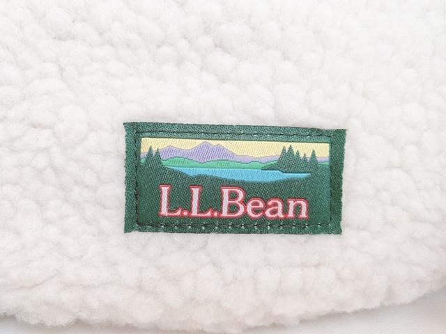 L.L.Beanボア巾着バッグ ロゴ