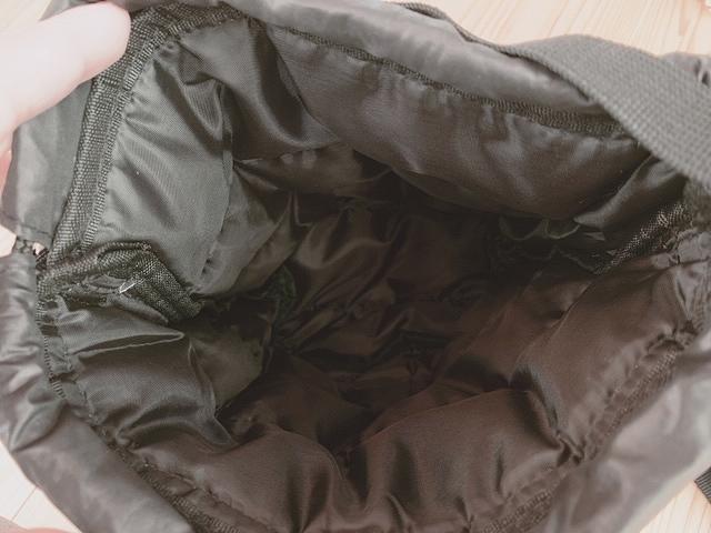 L.L.Beanキルティング巾着バッグ 中は?