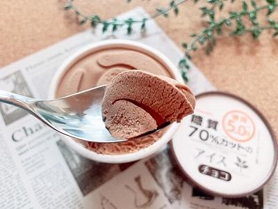 糖質カットアイス チョコ味見