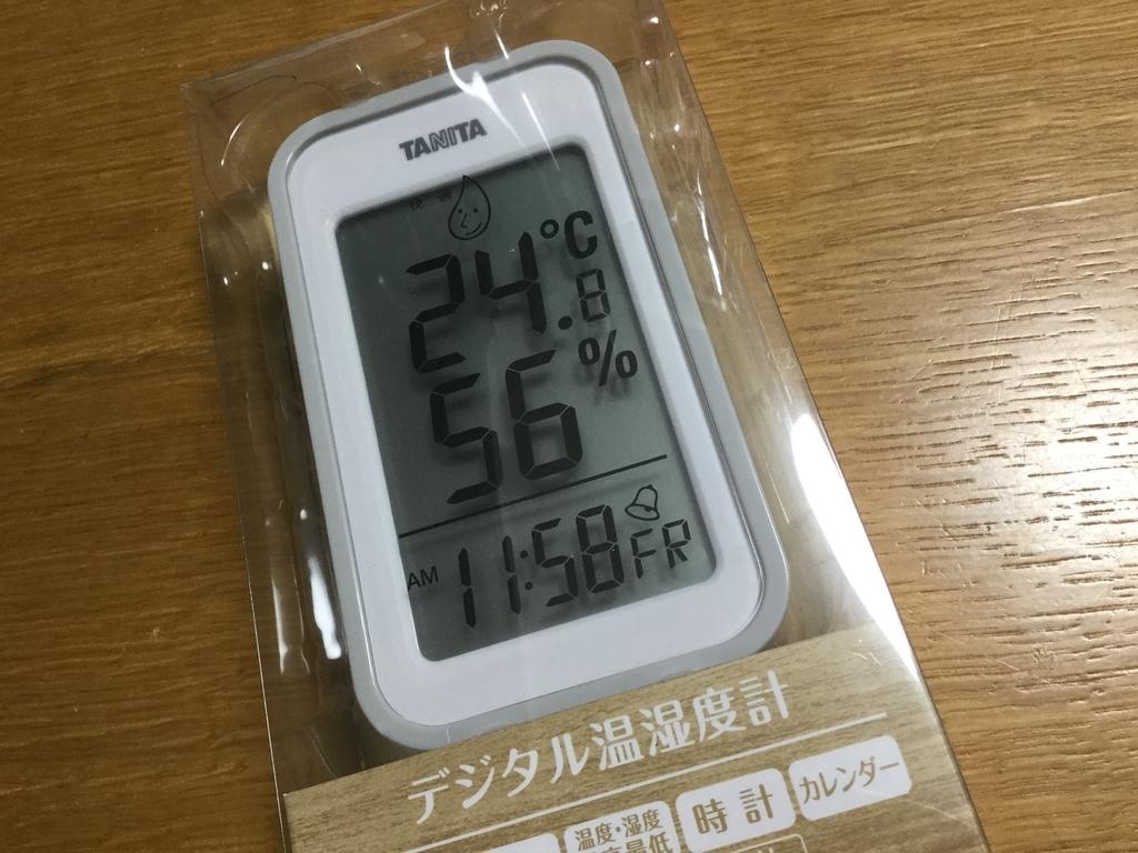 タニタのデジタル湿度計