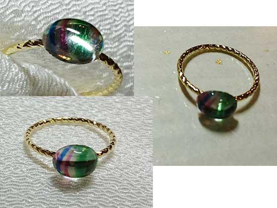 ヴィンテージスワロフスキーで作った指輪