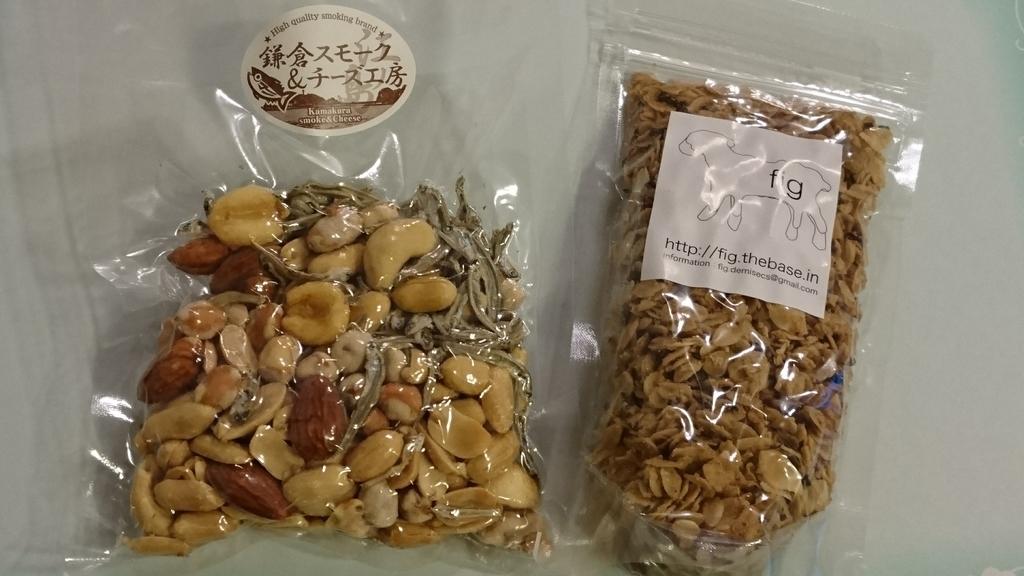 フードブースの写真鎌倉スモーク&チーズとグラノーラ