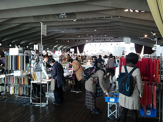 ビーズアートショー横浜2018冬会場様子