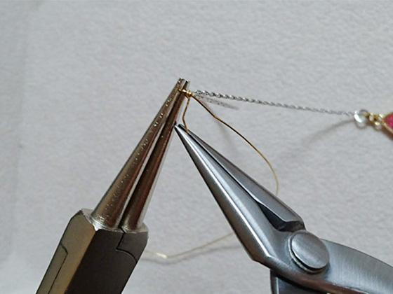 メガネ留めの巻き付け