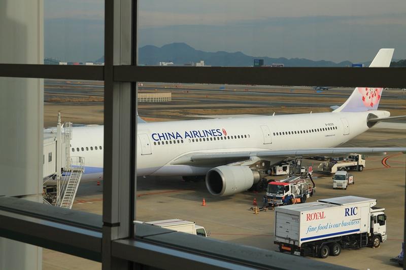 台湾桃園空港行きチャイナエアライン