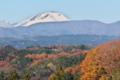 [浅間山][活火山][冠雪][紅葉][山里]浅間山