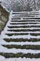 [石段][雪][積雪][降雪][千蔵院]石段