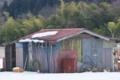 [農具小屋][小屋][納屋][畑][積雪]農具小屋