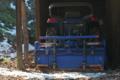 [トラクター][農具小屋][納屋][日陰][残雪]トラクター